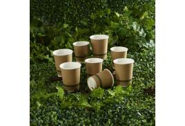 Ingeo Kraft Paper Cups 12oz Double Wall PLA (Pack of 25)