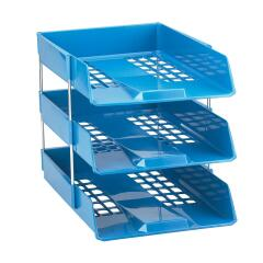 Avery Standard (A4/Foolscap) Stackable Versatile Letter Tray (Blue) Image