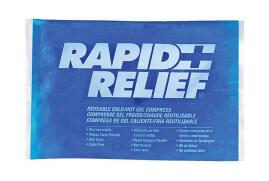 Rapid Aid Rapid Relief (4 x 6 inch) Reusable Hot and Cold Gel Compress with Contour Gel