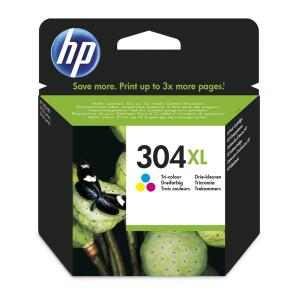 HP 304XL (Yield: 300 Pages) Cyan/Magenta/Yellow Ink Cartridge