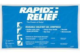 Rapid Aid Rapid Relief (5 x 9 inch) Reusable Hot and Cold Gel Compress with Contour Gel