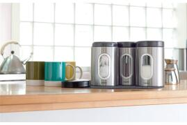 Addis Stainless Steel Kitchen Canisters (Set Of 3)