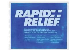 Rapid Aid Rapid Relief (9 x 11 inch) Reusable Hot and Cold Gel Compress with Contour Gel