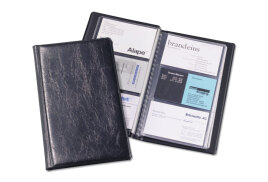 DURABLE Visifix Business Card Album Fixed Welded Pockets Capacity 72 (Dark Blue)