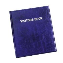DURABLE (60mm x 90mm) Leather Look Visitors Book with 100 Carbonless Badges Inserts (1463-65) Image