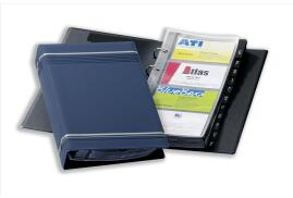 DURABLE (A4) 4 Ring Business Card Album (Dark Blue) for 200 Cards