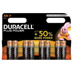 Duracell Plus Power Battery AA Pack of 8 Image