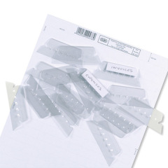 Elba Replacement Plastic Tabs (Clear) for Verticflex Suspension Files (Pack of 25) Image