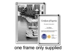 5 Star Facilities (A2) Clip Display Frame Aluminium with Fixings Front-Loading 420x13x594mm (Silver)