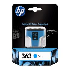 HP 363 (Yield: 400 Pages) Cyan Ink Cartridge Image