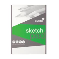 Silvine (A4) Popular Sketch Pad Acid Free Cartridge Paper 100gsm (50 Sheets) Image
