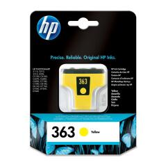 HP 363 (Yield: 500 Pages) Yellow Ink Cartridge Image