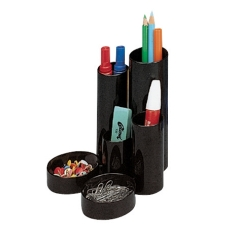 Unbranded Desk Tidy with 6 Compartment Tubes (Black) Image