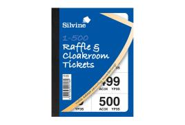 Unbranded Cloakroom or Raffle Tickets Numbered 1 - 500 Assorted Colours (1 x Pack of 12)