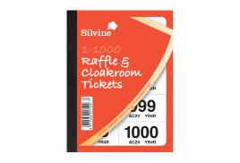 Unbranded Cloakroom or Raffle Tickets Numbered 1 - 1000 Assorted Colours (1 x Pack of 6)