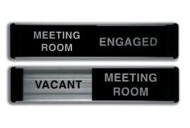Stewart Superior Sliding Sign Free/Engaged/Meeting Room