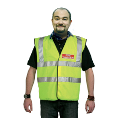 Unbranded Fire Warden (Extra Large) High Visibility Vest (Yellow) with Fire Warden Reflective Logo Image