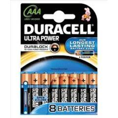Duracell (AAA) Ultra MX2400 Alkaline Battery 1.5V (Pack 8) with Duralock Image