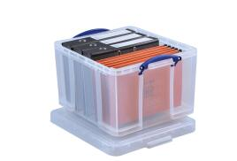 Really Useful (42L) Plastic Lightweight Robust Stackable Storage Box (Clear)