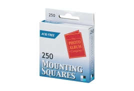 5 Star Office Photo Mounting Squares 17mm x 12mm Double Sided Adhesive (White) Pack of 250