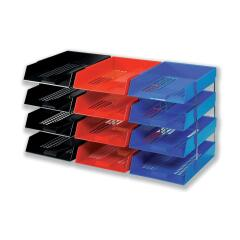 5 Star Office (Foolscap) Letter Tray High-impact Polystyrene (Red) Image