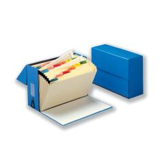 5 Star (Foolscap) Expanding Box File 19 Pockets A-Z W374xD134xH253mm (Blue) Image