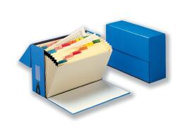 5 Star Office (Foolscap) Expanding Box File 19 Pockets A-Z W374xD134xH253mm (Blue)