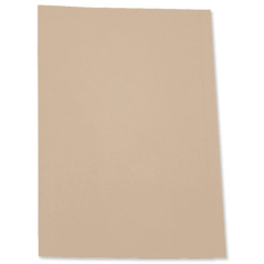5 Star Square Cut Folder Recycled Pre-punched 250gsm Foolscap Buff [Pack 100] Image