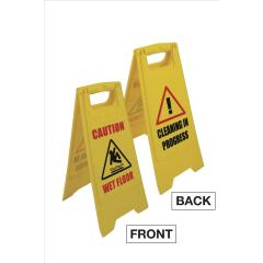 Unbranded PVC Sign (300x400x600mm) - Caution Wet Floor Image