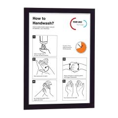 DURABLE DURAFRAME (A3) Self-Adhesive Information Sign with Folding Magnetic Front Panel (Black) - Pack of 2 Image