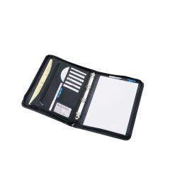 5 Star (A4) Zipped Conference Ring Binder Capacity 30mm Leather Look (Black) Image