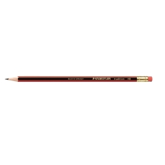 Staedtler Tradition 110 Cedar Wood Pencil with Eraser HB (Pack of 12 Pencils) Image