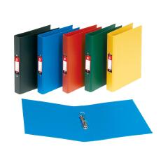 5 Star Office (A4) Ring Binder 2 O-Ring Size 25mm Polypropylene on Board (Blue) Pack of 10 Image
