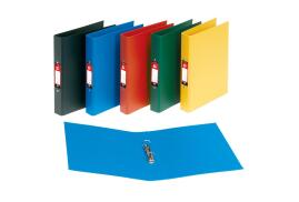 5 Star Office (A4) Ring Binder 2 O-Ring Size 25mm Polypropylene on Board (Blue) Pack of 10