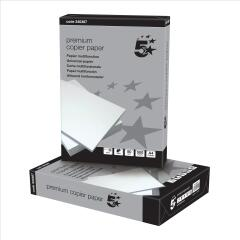 5 Star (A4) Copier Paper Smooth 80g/m2 Ream-Wrapped (High White) 500 Sheets Image