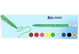 Bic Kids Kid Couleur Felt Tip Pens Ultra Washable Medium Tip (Assorted Colours) Pack of 12
