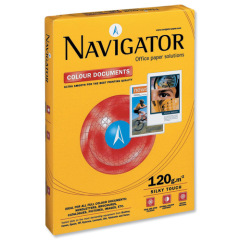 Navigator (A4) Colour Documents Paper Ultra Smooth 120gsm White (250 Sheets) Image