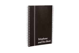Unbranded Telephone and Fax Index Book (A5) Wirebound Black