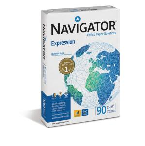 Navigator Expression (A4) Inkjet Paper Extra Smooth Ream-Wrapped 90gsm White (Pack of 500 Sheets)