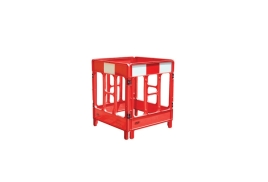 JSP 4-Gated Workgate System Red Panels Reflective (Top)