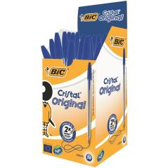 Bic Cristal Medium Ballpoint Pen 1.0mm Tip 0.4mm Line (Blue) Pack of 50 Pens Image