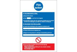 Stewart Superior NS013 Self-Adhesive Vinyl Write On Sign (210x297mm) -  Fire Action