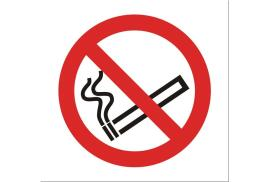 Stewart Superior SB012SAV Self-Adhesive Vinyl Sign (100x100mm) - No Smoking Logo