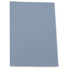 5 Star Office Square Cut Folder Recycled Pre-punched 250gsm A4 Blue [Pack 100] Image