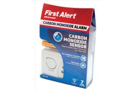 Kidde First Alert 85dB Carbon Monoxide Detector LED Alarm and Fittings