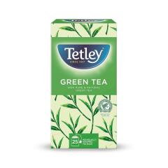 Tetley Draw String Pure Green Tea Bags Individually Wrapped (Pack of 25) Image