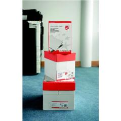 5 Star Value (A4) Value Copier Paper Ream-Wrapped (White) 5 x 500 Sheets Image