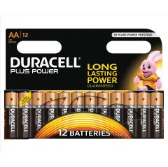 Duracell Plus Power (AA) Battery (1 x Pack of 12 Batteries) Image