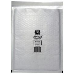 Jiffy Airkraft (Size 4) Postal Bags Bubble-lined Peel and Seal 240x320mm White (1 x Pack of 10 Bags) Image