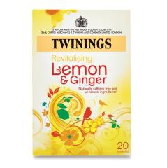 Twinings Infusion (Lemon and Ginger) Individually-wrapped Infusion Tea Bags (Pack of 20 Tea Bags) Image